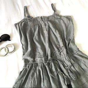 Gray Zara Basic Cotton Dress Grey